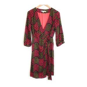 Boden geometric dot wrap dress 8